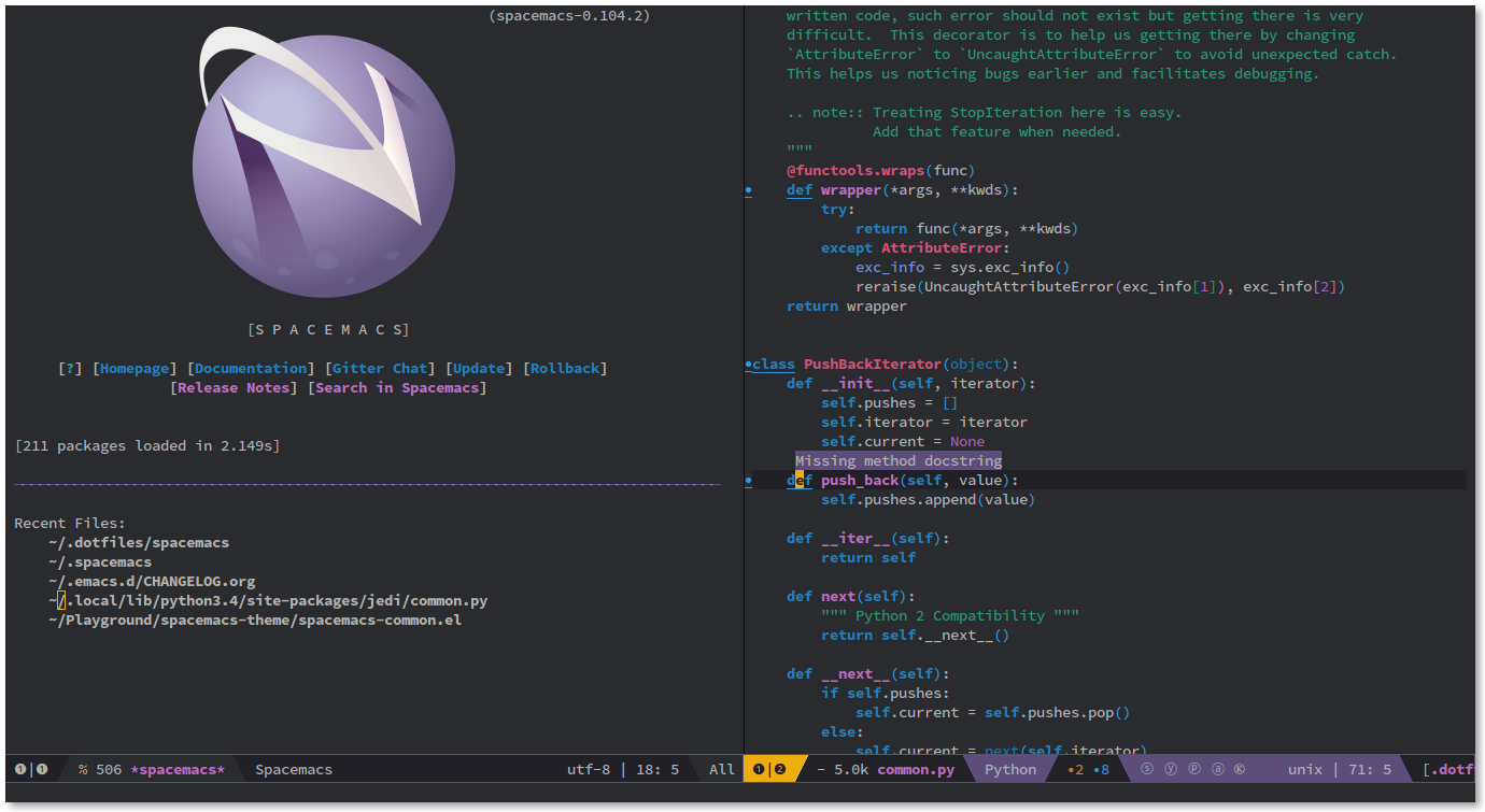 Spacemacs documentation