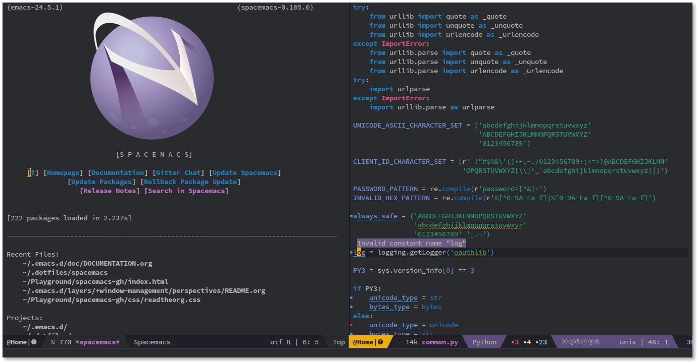 Spacemacs is a great editor with a great UI.