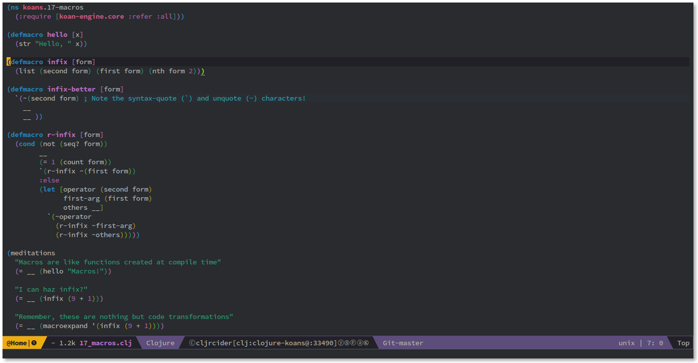 Spacemacs: Emacs advanced Kit focused on Evil